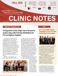 Thumbnail cover of Fall 2018 Clinic Notes Publication