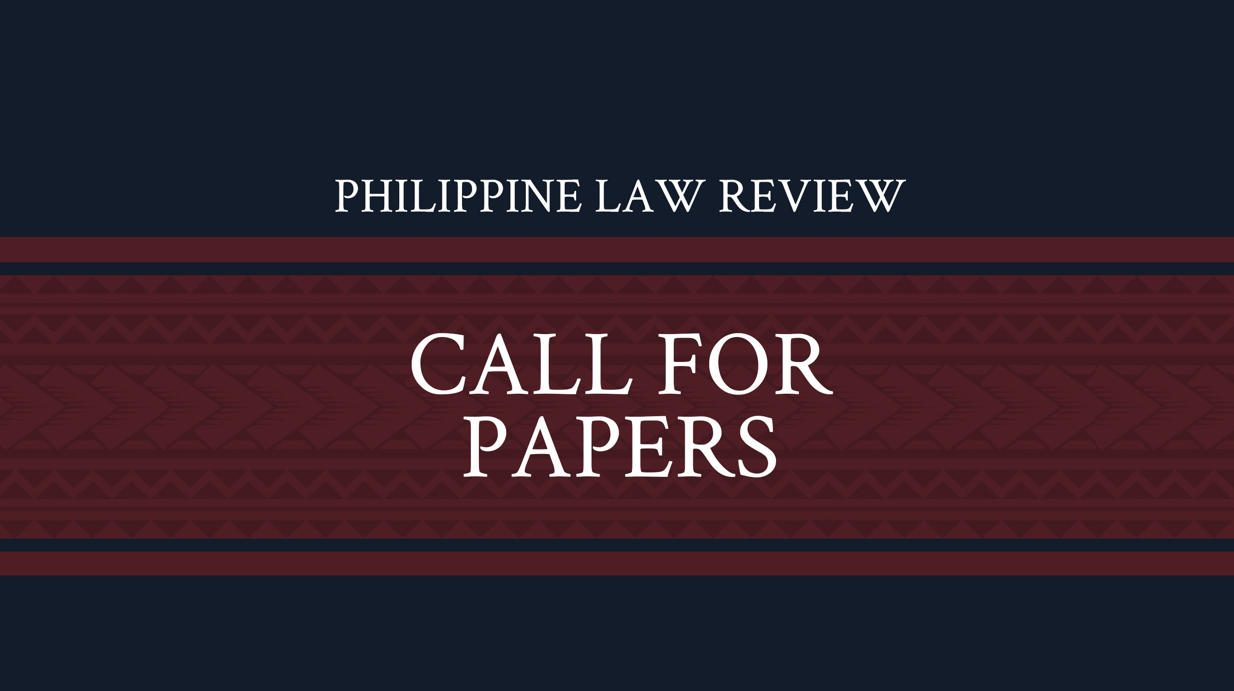 Philippine Law Review Call for Papers