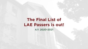 Final List of LAE Passers