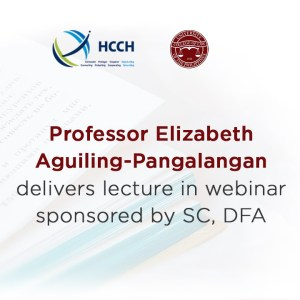 UP Law Faculty is Speaker in HCCH Private International Law Webinar