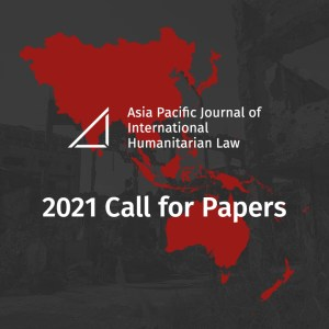 APJIHL 2021 Edition Call for Papers – Deadline Extended to 10 January 2021
