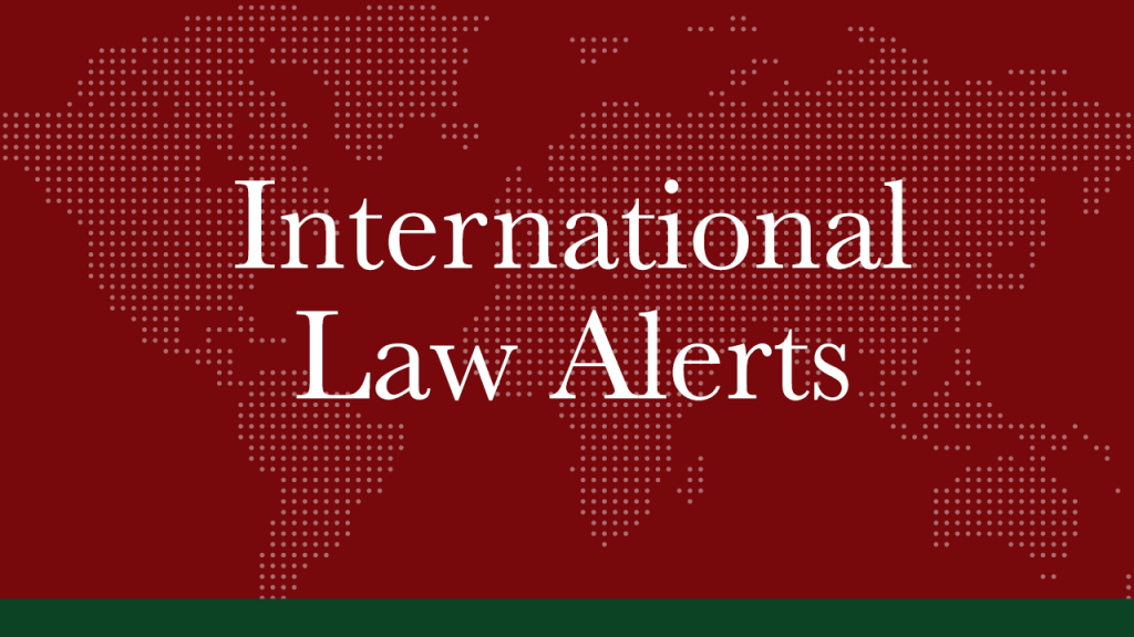 February 2021   International Law Alerts   Nuclear