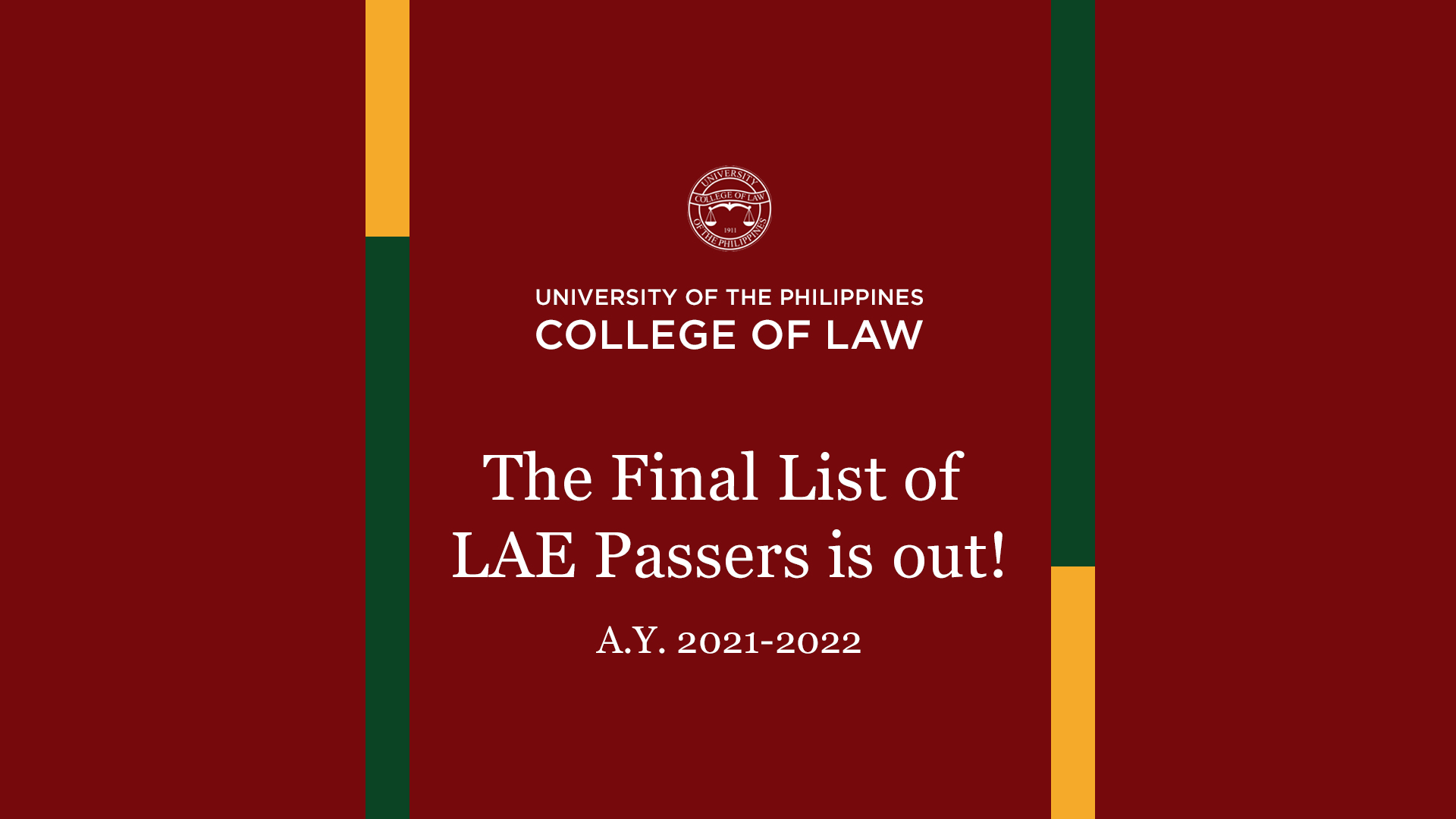 Final List of LAE 2021 Passers