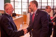 Rector Giuseppe Dalla Torre and Dean Michael A. Simons