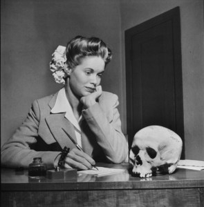 Woman and Skull