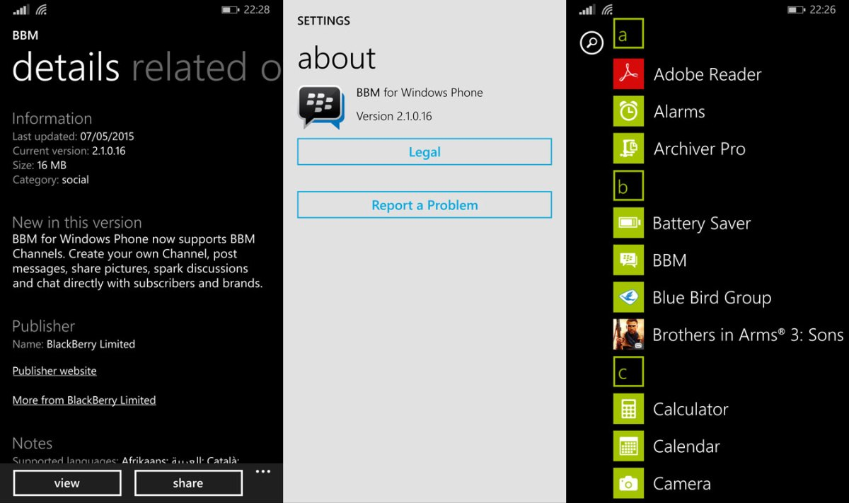 BBM for Windows Phone 8.1