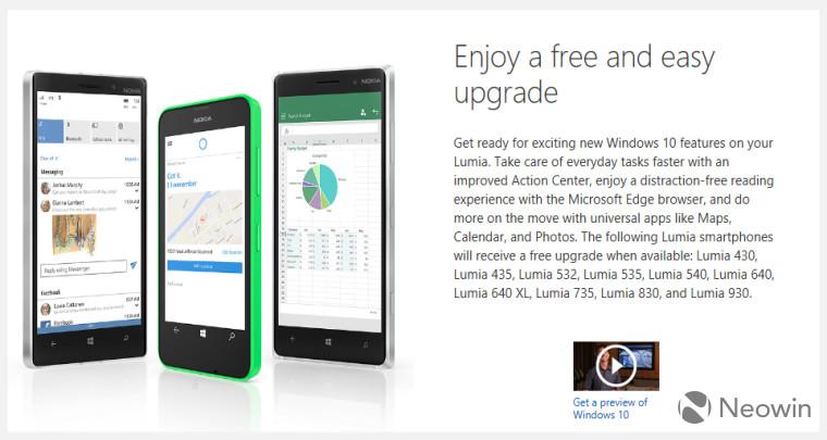 Daftar Ponsel Update ke Windows 10 for Mobile