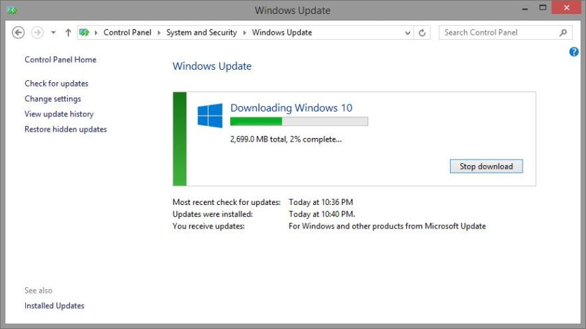 Windows Check System, Download Upgrade Windows 10