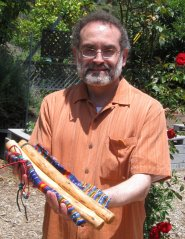 Victor with talking sticks