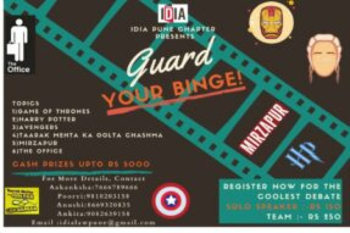 IDIA Pune's Pop culture Themed Debate Competition: Register by 8th December