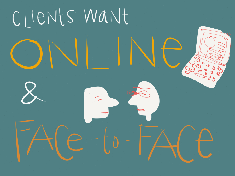 Legal Design - clients want online and face to face