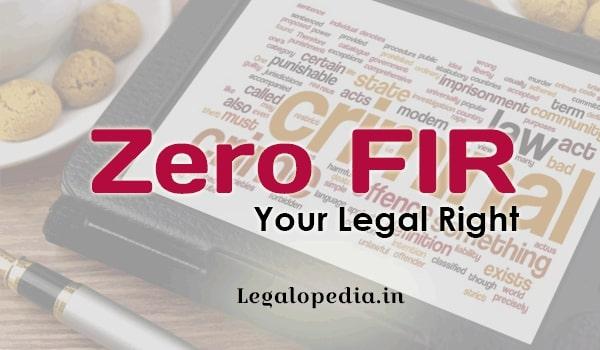 What is Zero FIR?- Oshin Malpani