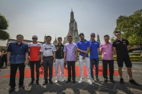 Pilotos de MotoGP en Bangkok