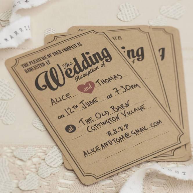 Rustic Clic Winter Wedding Invitation