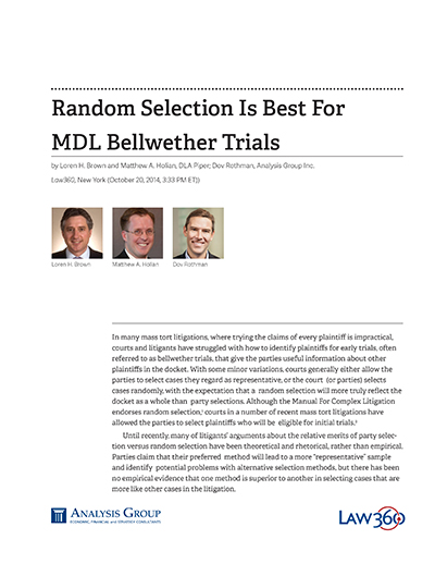 Random Selection Is Best For MDL Bellwether Trials