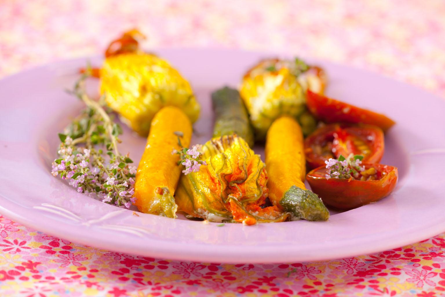 Kwiaty cukinii faszerowane. Kiedy kuchnia staje się poezją.