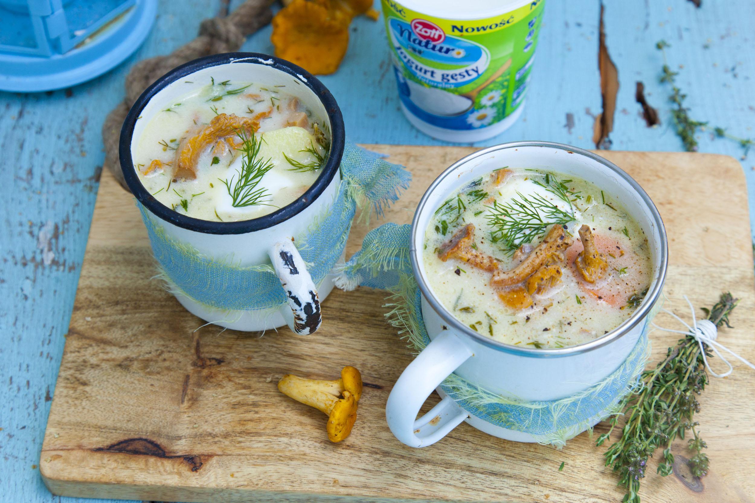 Śląska zupa ze świeżych grzybów