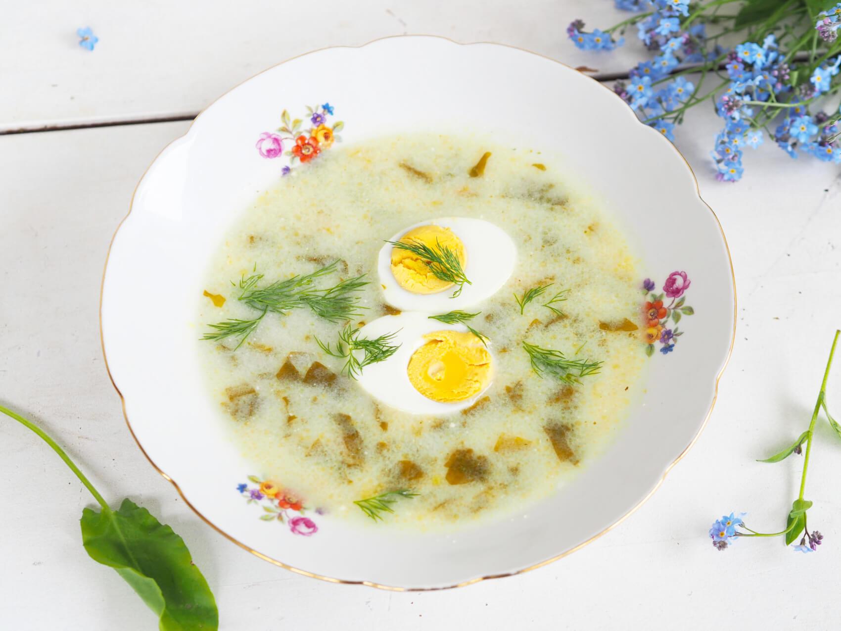 #retro gotowanie – najlepsza zupa szczawiowa z jajkiem