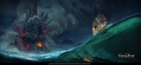 Concept art from Disney's Moana
