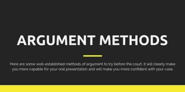 Court Argument Methods