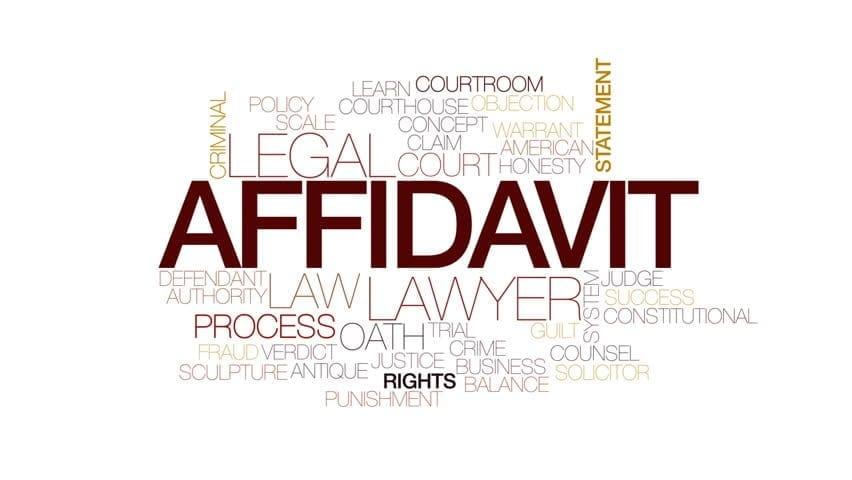 Affidavit A to Z