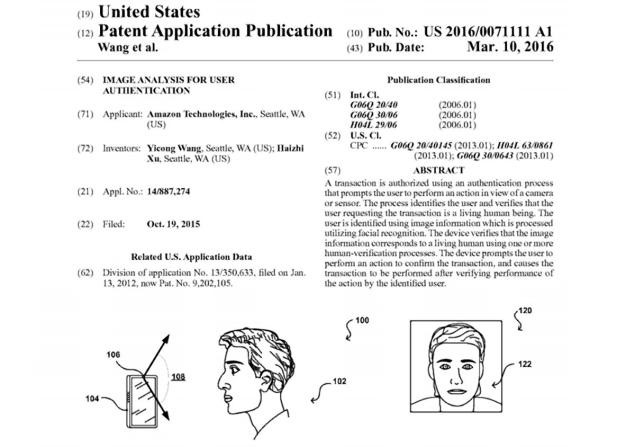 Amazon wink patent