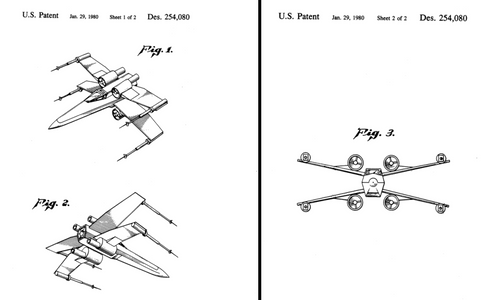 X-wing fighter Patent