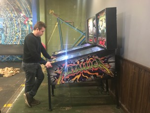 Pinball requires serious concentration and quick reflexes