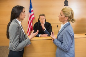 lawyers arguing before a judge