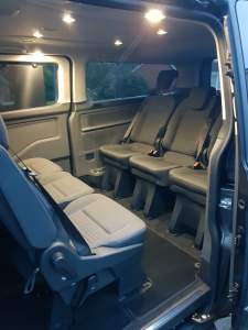 Lawlor Taxis 9 Seater Minibus Rear Seats Facing each other