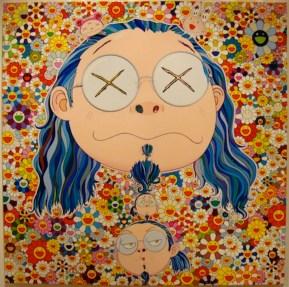 takashi-murakami-paints-self-portraits--exhibition-recap---4