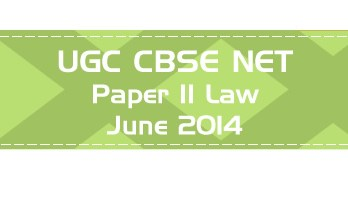 2014 June Previous Paper 2 Law UGC NET CBSE LawMint.com