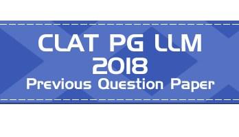 CLAT PG 2018 Question Paper Mock Test CLAT LLM Previous question paper - LawMint