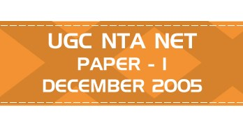 UGC NTA NET Paper 1 HECI Previous Question Papers Mock Tests December 2005