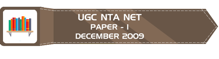 UGC NTA NET Paper 1 HECI Previous Question Papers Mock Tests December 2009