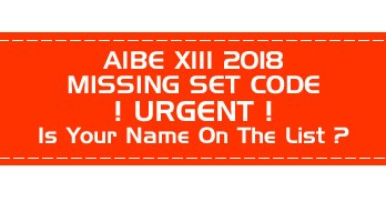 AIBE XIII 13 2018 Missing Set Code List Results will be withheld - LawMint.com