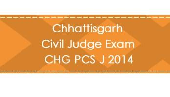 Chhattisgarh Civil Judge Exam CHG PCS J 2014 LawMint.com