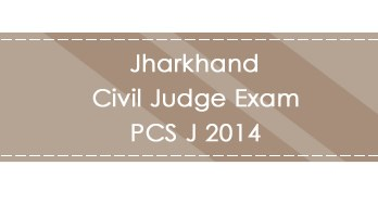 Jharkhand Civil Judge Exam PCS J 2014 LawMint.com Judiciary Exam Mock Tests Civil Judge Previous Papers Legal Test Series MCQs Study Material Model Papers