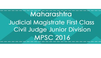 Maharashtra MPSC JMFC CJJD Judge Magistrate Exam 2016 Previous Question Paper Test Series Mock Test