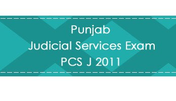 Punjab Judicial Services Exam PCS J 2011 LawMint.com Judiciary Exam Mock Tests Civil Judge Previous Papers Legal Test Series MCQs Study Material Model Papers
