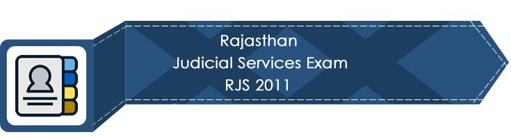 Rajasthan Judicial Services Exam RJS 2011 LawMint.com Judiciary Exam Mock Tests Civil Judge Previous Papers Legal Test Series MCQs Study Material Model Papers