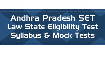 AP SET Law Andhra Pradesh State Eligibility Test Law Syllabus Eligibility Mock Tests Model Papers Previous Papers