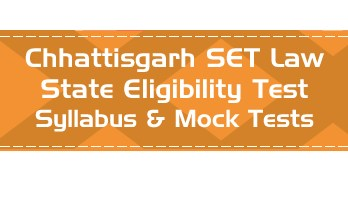 CG SET Law Chhattisgarh State Eligibility Test Law Syllabus Eligibility Mock Tests Model Papers Previous Papers