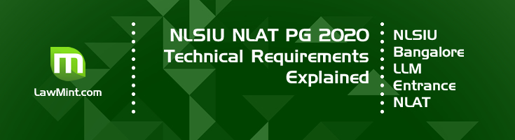 NLSIU NLAT PG 2020 Online Proctored Exam Technical Requirements explained LawMint