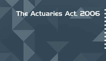 The Actuaries Act 2006 Bare Act PDF Download 2