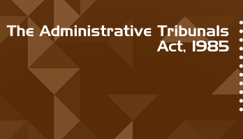 The Administrative Tribunals Act 1985 Bare Act PDF Download 2