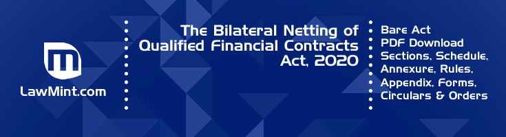 The Bilateral Netting of Qualified Financial Contracts Act 2020 Bare Act PDF Download 2