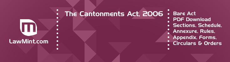 The Cantonments Act 2006 Bare Act PDF Download 2