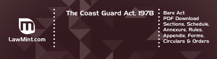 The Coast Guard Act 1978 Bare Act PDF Download 2