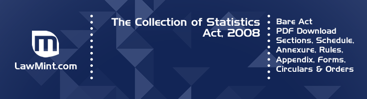The Collection of Statistics Act 2008 Bare Act PDF Download 2